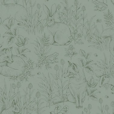 Papel Pintado Forest Friends de la marca Borastapeter