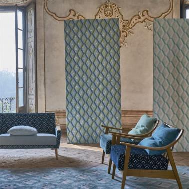 Tela Minakari de estilo Flores para Cortinas y Decoración de Designers Guild