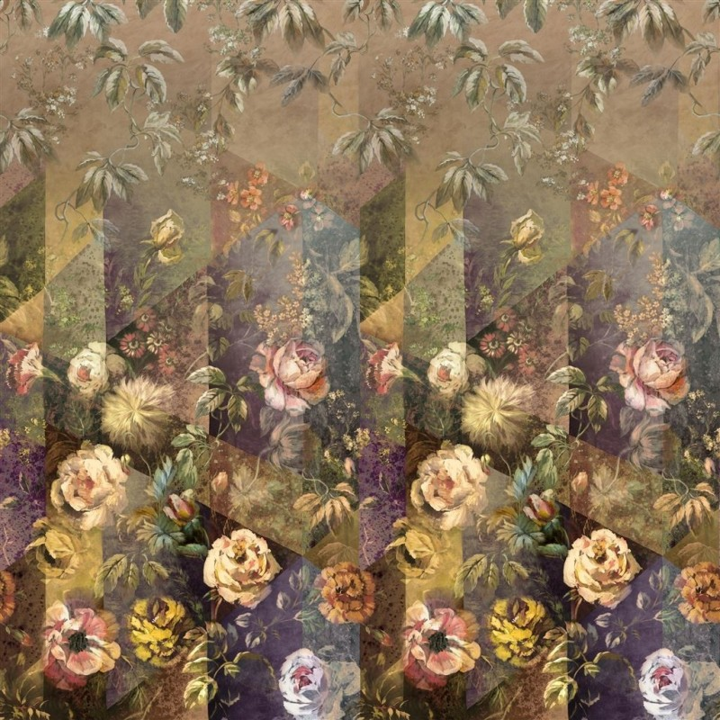Murales Minakari Rosewood de estilo Flores de la marca Designers Guild