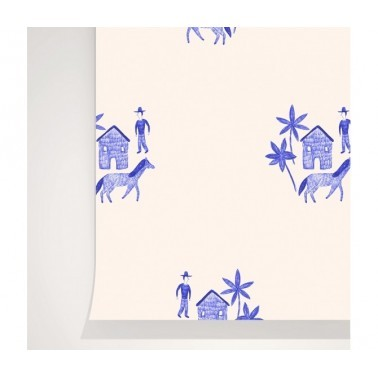 Papel Pintado con estilo Juvenil modelo Ranch de la marca Season Paper