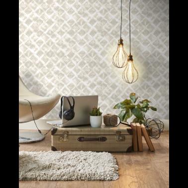 Papel Pintado con estilo Texturas modelo CHINCHILLA de la marca Clarke & Clarke