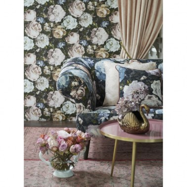 Papel Pintado con estilo Flores modelo FLORETTA de la marca Clarke & Clarke