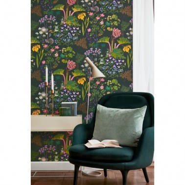 Papel Pintado con estilo Flores modelo Rabarber de la marca Borastapeter