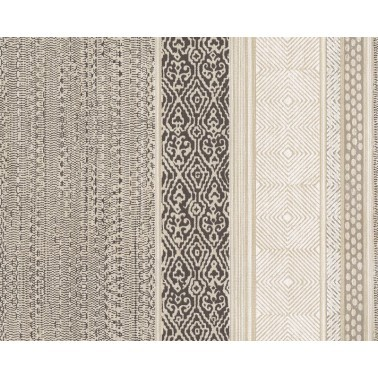 Papel Pintado con estilo Étnico modelo Tapestry Stripe de la marca Eijffinger