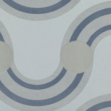 Papel Pintado con estilo Vintage modelo Spot On Waves Flock de la marca Kirby Design