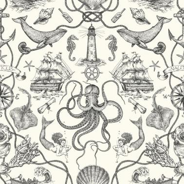 Mural con estilo Flores modelo AMRAPALI de la marca Designers Guild
