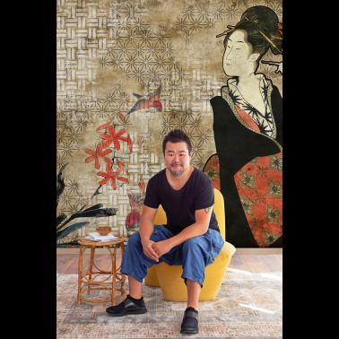 Tela para Cortinas con estilo Flores modelo CHINOISERIE FLOWER