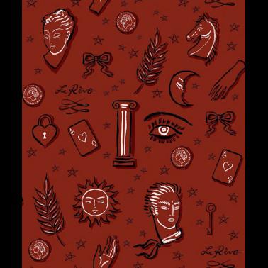 Tela para Cortinas con estilo Flores modelo DAMASK FLOWER