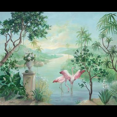 Tela para Tapicería con estilo Flores modelo ROMAUNT ROSE