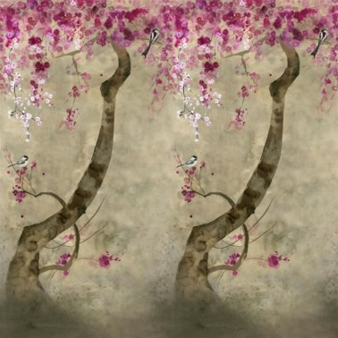 Mural con estilo Flores modelo SHINSHA SCENE 2 de la marca Designers Guild