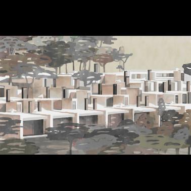 Mural con estilo Moderno modelo PAVILION de la marca Coordonné