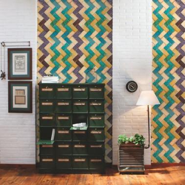 Papel Pintado con estilo Clásico modelo Linen Stripe de la marca Borastapeter