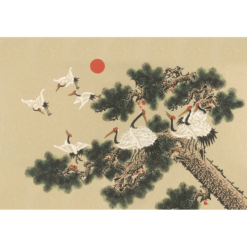 Mural con estilo Animales modelo UKIYO de la marca Coordonné