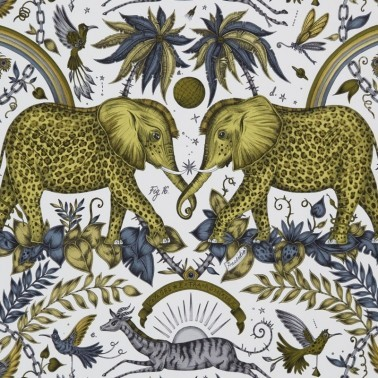 Papel Pintado con estilo Tropical modelo Zambezi de la marca Emma J Shipley