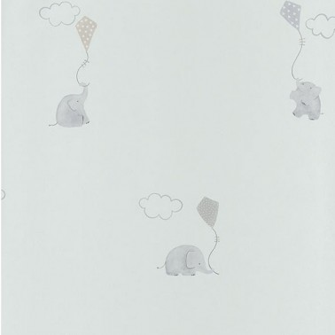 Papel Pintado con estilo Infantil modelo MY LITTLE WORLD ELEPHANTS de la marca Casadeco