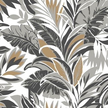 Papel Pintado con estilo Tropical modelo PALM SILHOUETTE de la marca York Wallcoverings