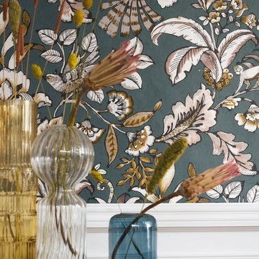 Papel Pintado con estilo Botánico modelo PAIONY de la marca Casamance