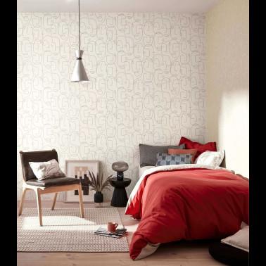 Mural con estilo Geometrico modelo Rostros de la marca Coordonné