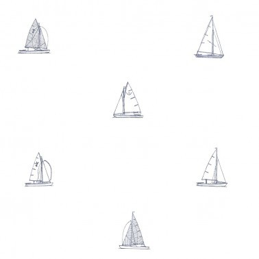 Papel Pintado con estilo Marinero modelo Veleros de la marca Pepe Peñalver